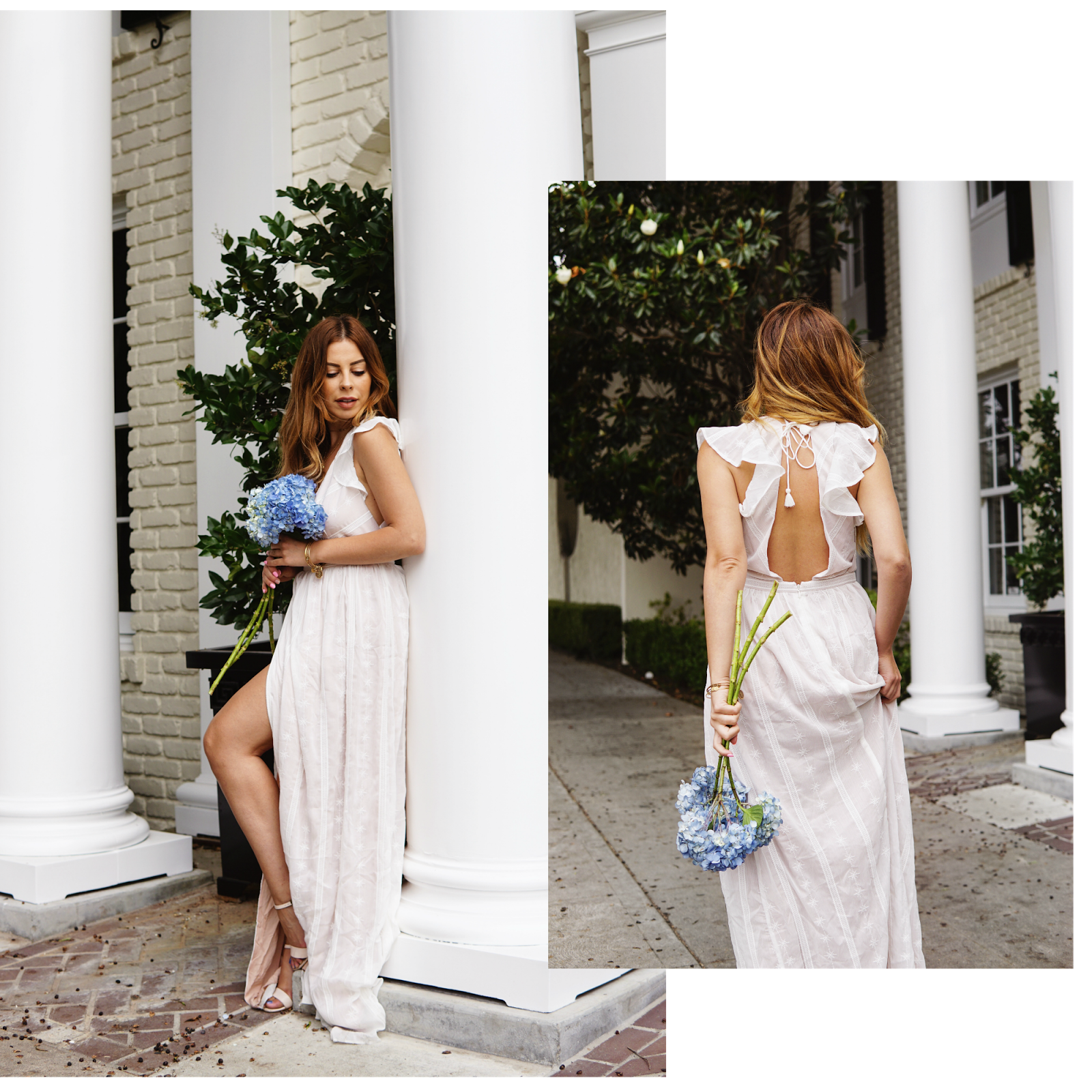 i styled this boho chic maxi number with layered gold necklaces to highlight my dcolletage and simple strappy heels as always make sure you feel 100