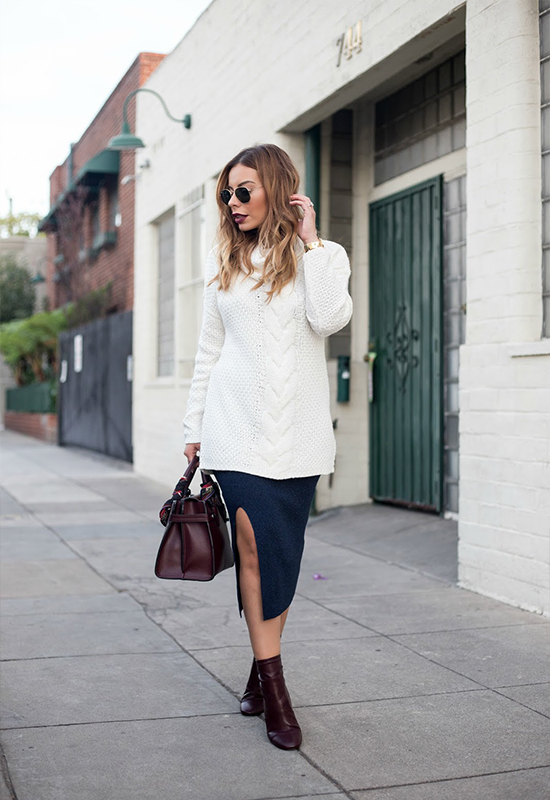 How to Style a Pencil Skirt for Fall